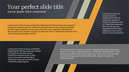Stages and Tilted Stripes Presentation Template, Slide 14, 04335, Stage Diagrams — PoweredTemplate.com