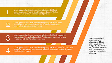 Stages and Tilted Stripes Presentation Template, Slide 4, 04335, Stage Diagrams — PoweredTemplate.com