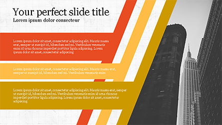 Stages and Tilted Stripes Presentation Template, Slide 7, 04335, Stage Diagrams — PoweredTemplate.com