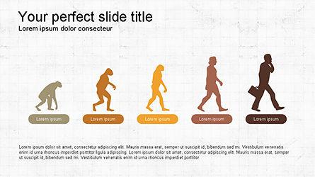 Infographics: 프리젠 테이션을위한 infographics가있는 진화 다이어그램 #04336