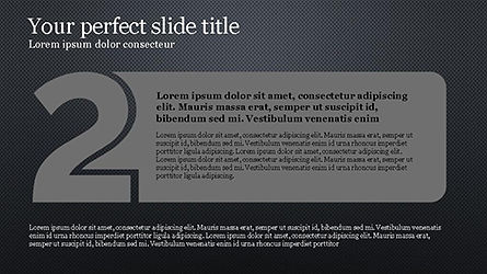 Numbered Text Banners, Slide 11, 04339, Text Boxes — PoweredTemplate.com