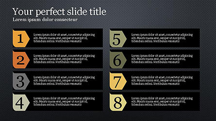 Numbered Text Banners, Slide 14, 04339, Text Boxes — PoweredTemplate.com