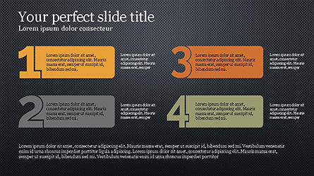Numbered Text Banners, Slide 15, 04339, Text Boxes — PoweredTemplate.com