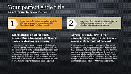 Numbered Text Banners, Slide 16, 04339, Text Boxes — PoweredTemplate.com