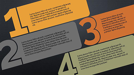 Numbered Text Banners, Slide 9, 04339, Text Boxes — PoweredTemplate.com