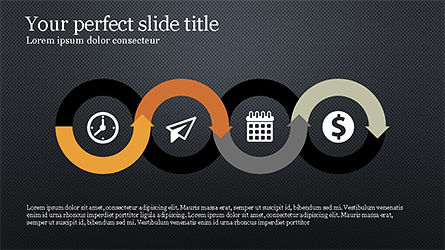 Process Infographics Slides, Slide 10, 04340, Icons — PoweredTemplate.com
