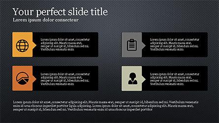Process Infographics Slides, Slide 11, 04340, Icons — PoweredTemplate.com