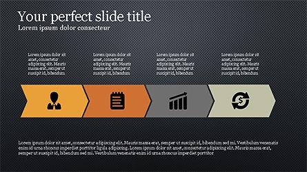 Process Infographics Slides, Slide 12, 04340, Icons — PoweredTemplate.com