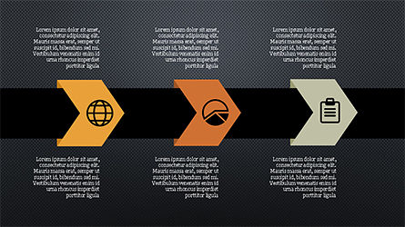 Process Infographics Slides, Slide 13, 04340, Icons — PoweredTemplate.com