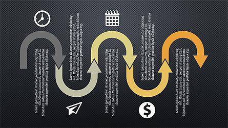 Process Infographics Slides, Slide 14, 04340, Icons — PoweredTemplate.com