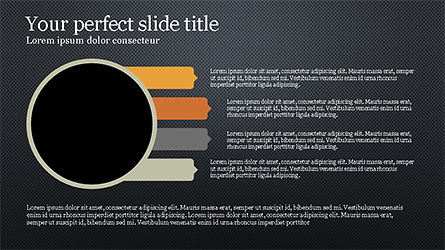 Process Infographics Slides, Slide 15, 04340, Icons — PoweredTemplate.com
