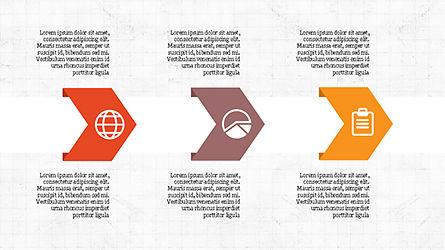 Process Infographics Slides, Slide 5, 04340, Icons — PoweredTemplate.com