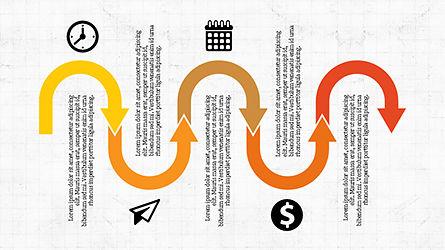 Process Infographics Slides, Slide 6, 04340, Icons — PoweredTemplate.com