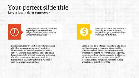 Process Infographics Slides, Slide 8, 04340, Icons — PoweredTemplate.com