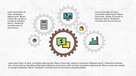 Presentation Template with Icons and Round Shapes, Slide 3, 04342, Icons — PoweredTemplate.com