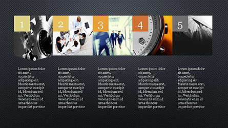 Timeline and Options Presentation Template, Slide 15, 04344, Presentation Templates — PoweredTemplate.com
