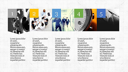 Timeline and Options Presentation Template, Slide 7, 04344, Presentation Templates — PoweredTemplate.com