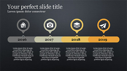 Stunning Presentation Template with Icons and Shapes, Slide 10, 04350, Presentation Templates — PoweredTemplate.com