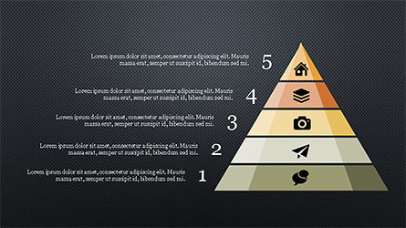 Stunning Presentation Template with Icons and Shapes, Slide 11, 04350, Presentation Templates — PoweredTemplate.com
