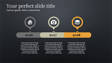 Stunning Presentation Template with Icons and Shapes, Slide 12, 04350, Presentation Templates — PoweredTemplate.com