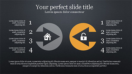 Stunning Presentation Template with Icons and Shapes, Slide 13, 04350, Presentation Templates — PoweredTemplate.com