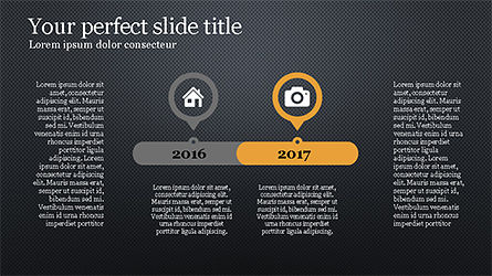 Stunning Presentation Template with Icons and Shapes, Slide 14, 04350, Presentation Templates — PoweredTemplate.com