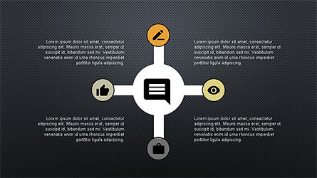 Roadmap with Icons and Shapes, Slide 14, 04352, Timelines & Calendars — PoweredTemplate.com