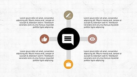 Roadmap with Icons and Shapes, Slide 6, 04352, Timelines & Calendars — PoweredTemplate.com