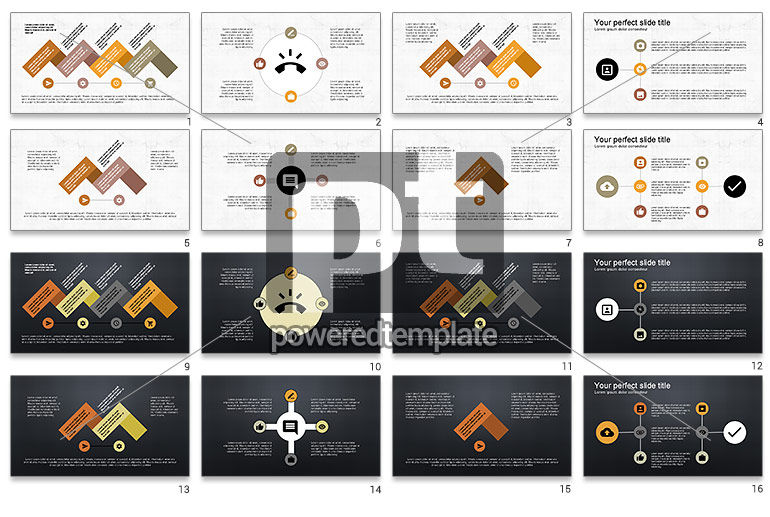 Roadmap with Icons and Shapes