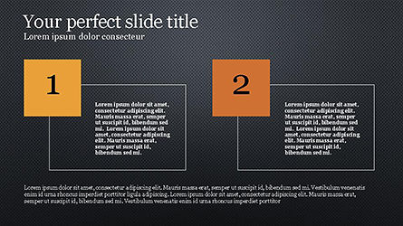 Numbered Text Boxes, Slide 10, 04353, Text Boxes — PoweredTemplate.com