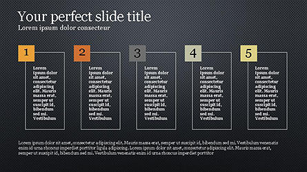 Numbered Text Boxes, Slide 13, 04353, Text Boxes — PoweredTemplate.com