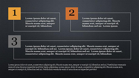 Numbered Text Boxes, Slide 16, 04353, Text Boxes — PoweredTemplate.com