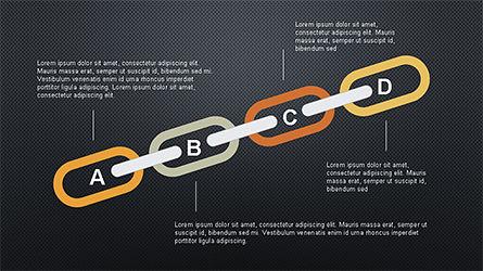 Slide Deck with Chain Shapes, Slide 10, 04354, Shapes — PoweredTemplate.com