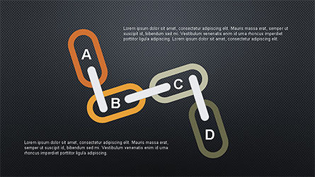 Slide Deck with Chain Shapes, Slide 12, 04354, Shapes — PoweredTemplate.com