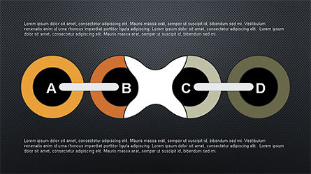 Slide Deck with Chain Shapes, Slide 13, 04354, Shapes — PoweredTemplate.com