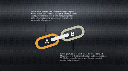 Slide Deck with Chain Shapes, Slide 16, 04354, Shapes — PoweredTemplate.com
