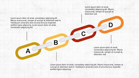 Slide Deck with Chain Shapes, Slide 2, 04354, Shapes — PoweredTemplate.com