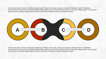 Slide Deck with Chain Shapes, Slide 5, 04354, Shapes — PoweredTemplate.com