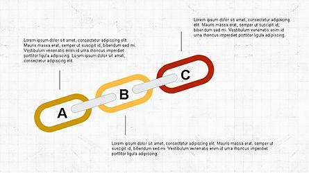 Slide Deck with Chain Shapes, Slide 6, 04354, Shapes — PoweredTemplate.com