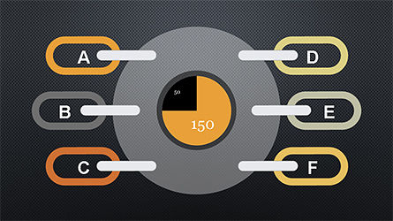 Slide Deck with Chain Shapes, Slide 9, 04354, Shapes — PoweredTemplate.com