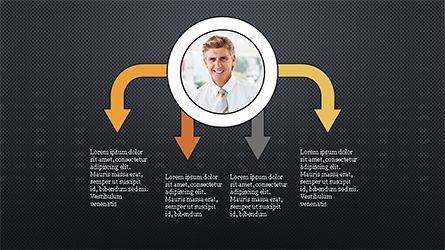 Circles and Arrows, Slide 10, 04355, Organizational Charts — PoweredTemplate.com