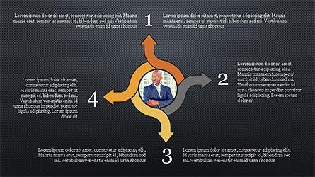 Circles and Arrows, Slide 11, 04355, Organizational Charts — PoweredTemplate.com