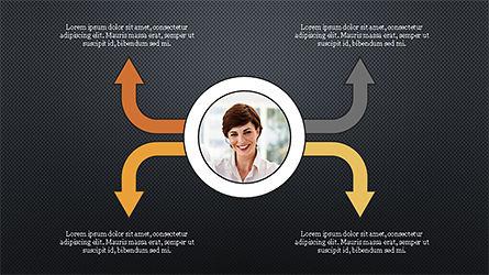 Circles and Arrows, Slide 12, 04355, Organizational Charts — PoweredTemplate.com