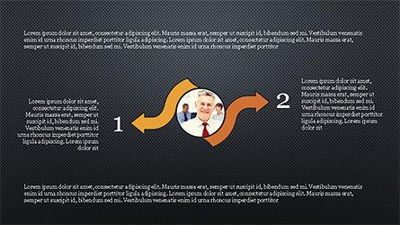 Circles and Arrows, Slide 13, 04355, Organizational Charts — PoweredTemplate.com