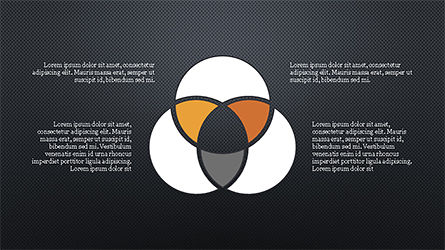 Circles and Arrows, Slide 14, 04355, Organizational Charts — PoweredTemplate.com