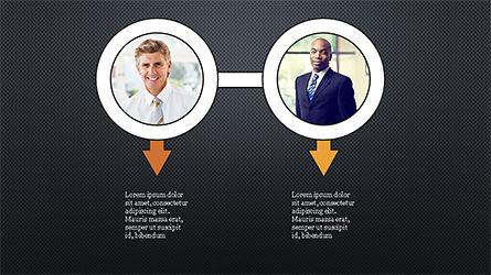 Circles and Arrows, Slide 15, 04355, Organizational Charts — PoweredTemplate.com