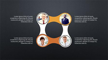 Circles and Arrows, Slide 16, 04355, Organizational Charts — PoweredTemplate.com