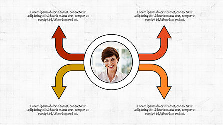 Circles and Arrows, Slide 4, 04355, Organizational Charts — PoweredTemplate.com
