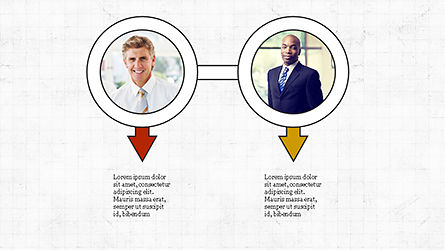 Circles and Arrows, Slide 7, 04355, Organizational Charts — PoweredTemplate.com