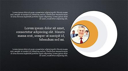 Circles and Arrows, Slide 9, 04355, Organizational Charts — PoweredTemplate.com